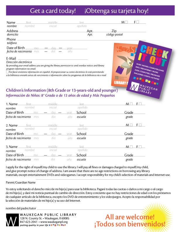Get A Card - Waukegan Public Library