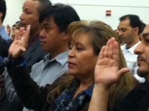Rosa Taking Oath